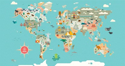 Airbnb coupon code - mapa do mundo
